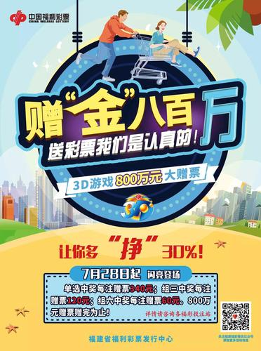 3D游戏800万元赠票活动海报