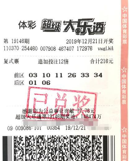 山東棗莊大樂透1.44億大獎被領走 獲獎者表示:繼續上班