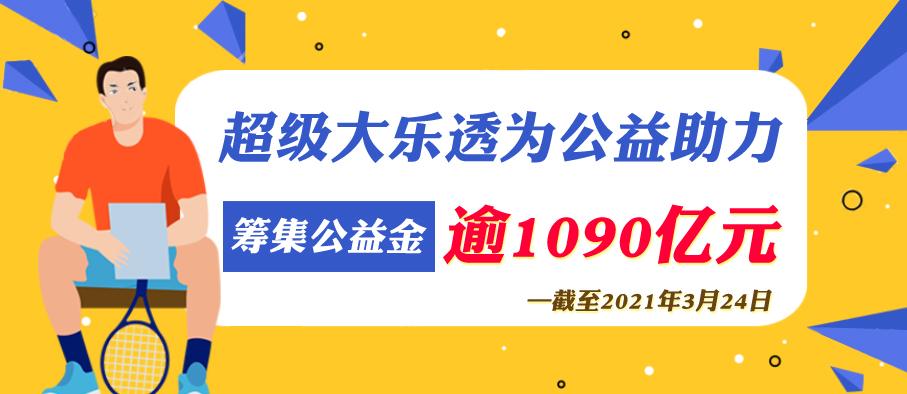 大乐透为公益助力筹集公益金逾1090亿元