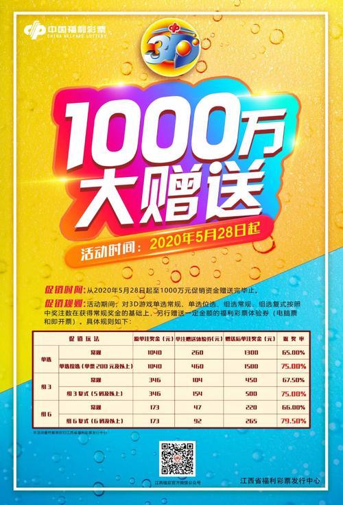 江西3d游戏1000万元促销活动火热来袭