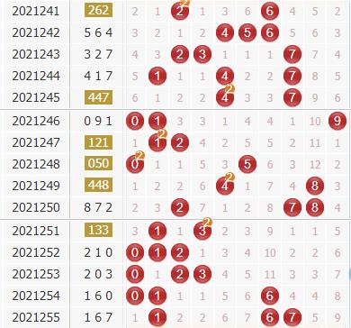3d第2021256期金钥匙胆码预测:组选+定位分析