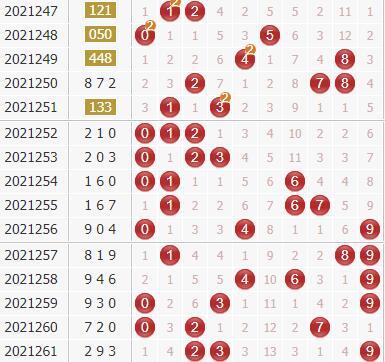 廊坊鸿运专家第2021262期3d独家分析:大数跨度